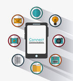 Connect communications social network icon Stock Photo