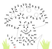 Connect the dots. A funny game for kids: What is that? Connect the dots to see the result stock illustration
