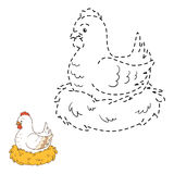Connect the dots (chicken) Royalty Free Stock Photo