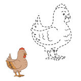 Connect the dots (chicken). Game for children: Connect the dots (chicken Royalty Free Stock Image