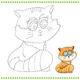 Connect the dots and coloring page. Cat Royalty Free Stock Images