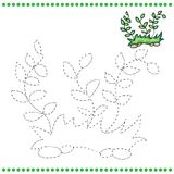 Connect the dots and coloring page Royalty Free Stock Photo