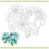 Connect the dots and coloring page Royalty Free Stock Image