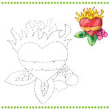 Connect the dots and coloring page Royalty Free Stock Photos