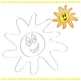 Connect the dots and coloring page Stock Image