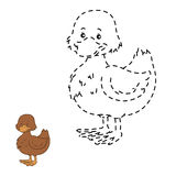 Connect the dots (duck). Game for children: Connect the dots (duck Royalty Free Stock Images