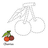 Connect the dots: fruits and vegetables (cherries) Stock Photo