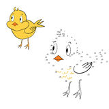 Connect the dots game chicken vector illustration Stock Photos