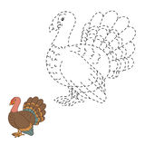 Connect the dots game: farm bird (turkey) Stock Image