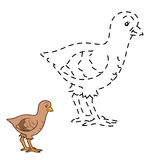 Connect the dots game: farm bird (turkey) Stock Photos