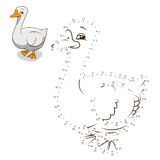 Connect the dots game goose vector illustration Stock Photography