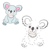 Connect the dots game koala vector illustration Stock Photo