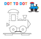 Connect the dots game train vector Royalty Free Stock Photo