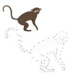 Connect the dots game vervet ape vector Stock Photos