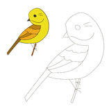 Connect the dots game yellowhammer bird Royalty Free Stock Photos