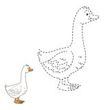 Connect the dots (goose). Game for children: Connect the dots (goose Royalty Free Stock Photos