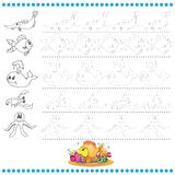 Connect the dots number of images - exercise for kids Royalty Free Stock Photography