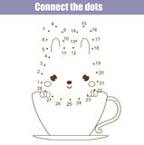 Connect the dots by numbers children educational game. Printable worksheet activity. Animals theme. Connect the dots children educational drawing game. Dot to Royalty Free Stock Images