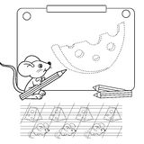 Connect the dots picture and coloring page. Tracing worksheet. Puzzle for kids. Royalty Free Stock Images