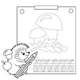 Connect the dots picture and coloring page. Tracing worksheet. Royalty Free Stock Photo