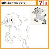 Connect the dots. Preschool exercise task for kids, cheerful goat Royalty Free Stock Images