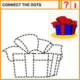 Connect the dots. Preschool exercise task for kids, great gift Stock Photography
