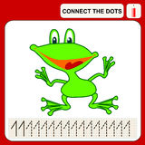 Connect the dots. Preschool exercise task for kids, numbers Royalty Free Stock Images