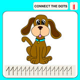 Connect the dots. Preschool exercise task for kids, numbers Royalty Free Stock Image