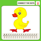 Connect the dots. Preschool exercise task for kids, numbers Stock Images