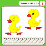 0915_11 connect the dots. Connect the dots, preschool exercise task for kids, numbers Stock Images