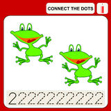 Connect the dots. Preschool exercise task for kids, numbers Royalty Free Stock Photos