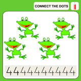 0116_42 connect the dots. Connect the dots, preschool exercise task for kids, numbers Stock Image