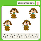 0116_41 connect the dots. Connect the dots, preschool exercise task for kids, numbers Stock Photos