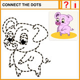 1015_35 connect the dots. Connect the dots, preschool exercise task for kids, pink pig Royalty Free Stock Photos