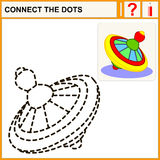 connect the dots. Connect the dots, preschool exercise task for kids, whirligig Stock Photography