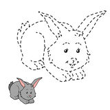 Connect the dots (rabbit). Game for children: Connect the dots (rabbit Stock Photo