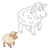 Connect the dots (sheep) Royalty Free Stock Photography