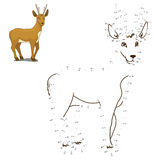 Connect the dots to draw animal educational game Stock Photography