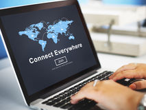 Connect Everywhere Globalization Interconnection Communication C Royalty Free Stock Photo