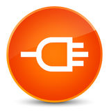 Connect icon elegant orange round button Royalty Free Stock Photos