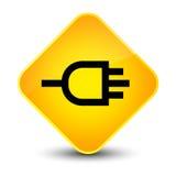 Connect icon elegant yellow diamond button Stock Photography
