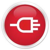 Connect icon premium red round button Stock Photos