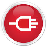 Connect icon premium red round button Stock Photo