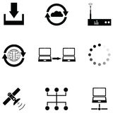 Connect icon set. The connect of icon set Royalty Free Stock Photos