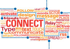 Connect ideas in text Stock Images