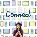 Connect Interact Communication Social Media Concept. Connect Interact Communication Social Media Stock Photos