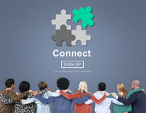 Connect Interaction Team Teamwork Concept Stock Photo