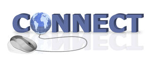 Connect internet connection online website Stock Image