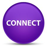 Connect special purple round button. Connect isolated on special purple round button abstract illustration Stock Photos