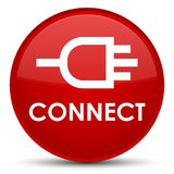 Connect special red round button. Connect isolated on special red round button abstract illustration Royalty Free Stock Photography